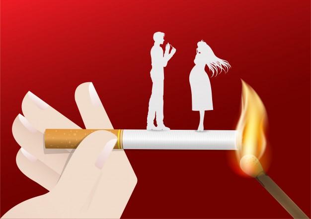 Ilustración del concepto de no fumar día mundo. Vector Premium